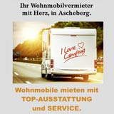 Flyer zum Angebot der mietbaren Wohnmobile von Wohnmobile-und-mehr.de aus dem Münsterland