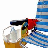 Zubehör zum Ausflug mit dem Wohnmobil - Liegestuhl und Kühltasche